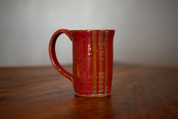 Striped Mug Red
